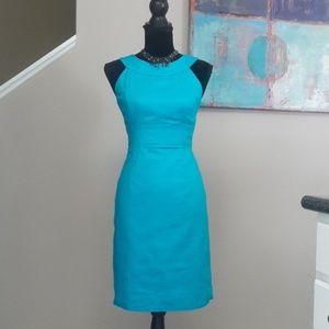 Madison/ Blue/ Halter Neck/ Sheath Dress